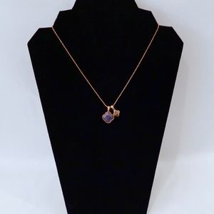 MIA FIORE ~amethyst clover charms~NECKLACE~Gold